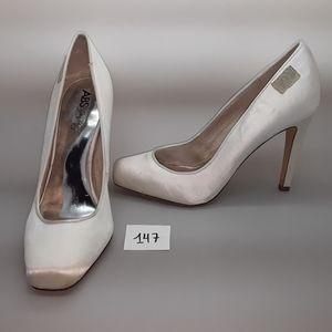ABS Vero Cuoio White Satin Pump Women's Shoes 9